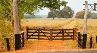 propriedade rural, porteira, segurança rural, campo, fazenda, terras, mp da regularização fundiária