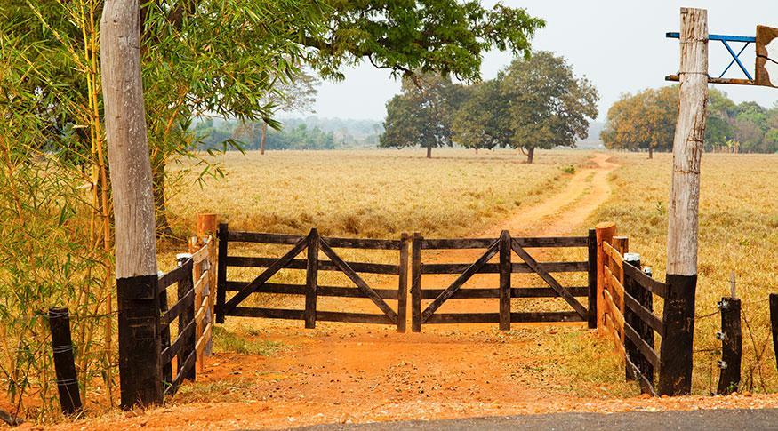 imóvel rural, propriedade rural, porteira, segurança rural, campo, fazenda, terras, mp da regularização fundiária