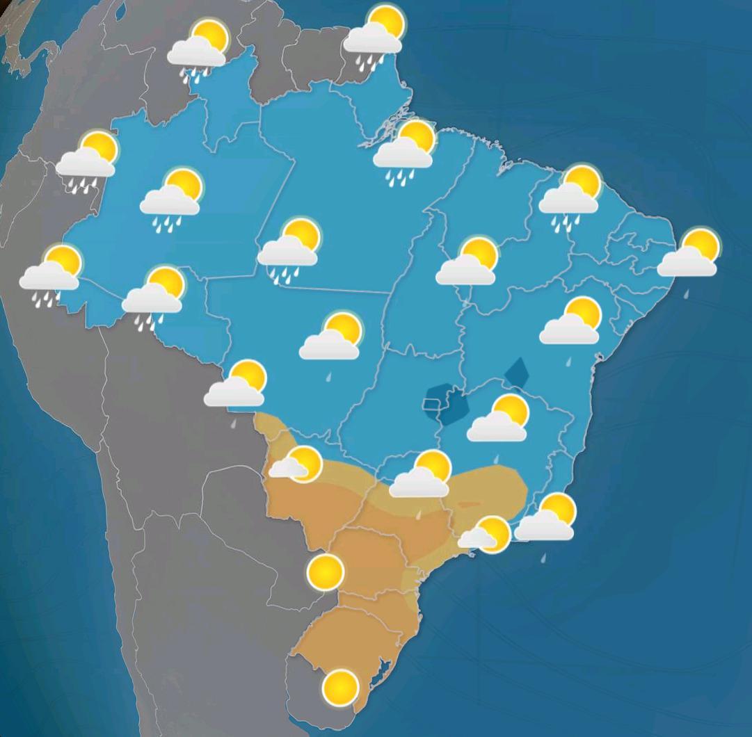 Previsão do tempo indica mais de 100mm nos próximos 5 dias; veja onde!