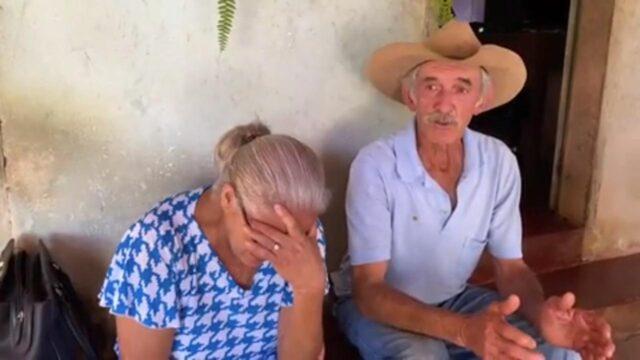 idosos foram feitos de refém enquanto criminosos roubavam gado
