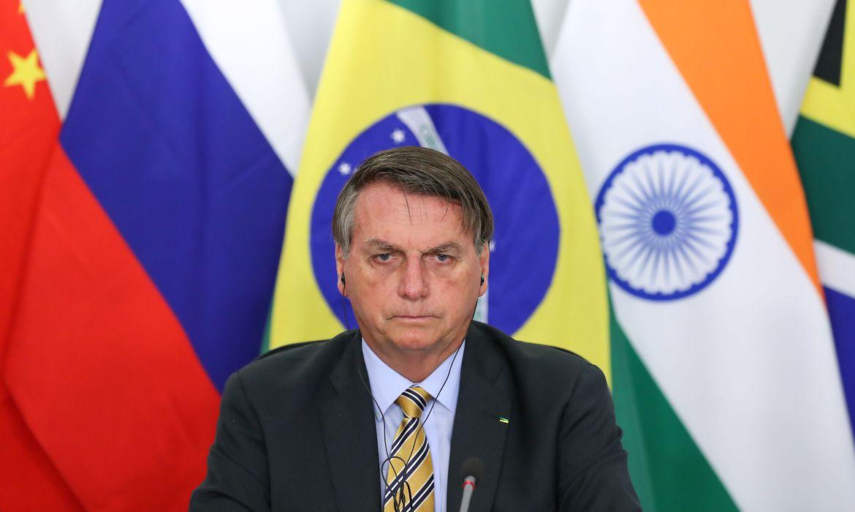 Jair Bolsonaro em reunião do Brics