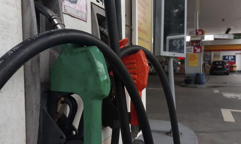 bomba de posto de combustível com etanol Petrobras