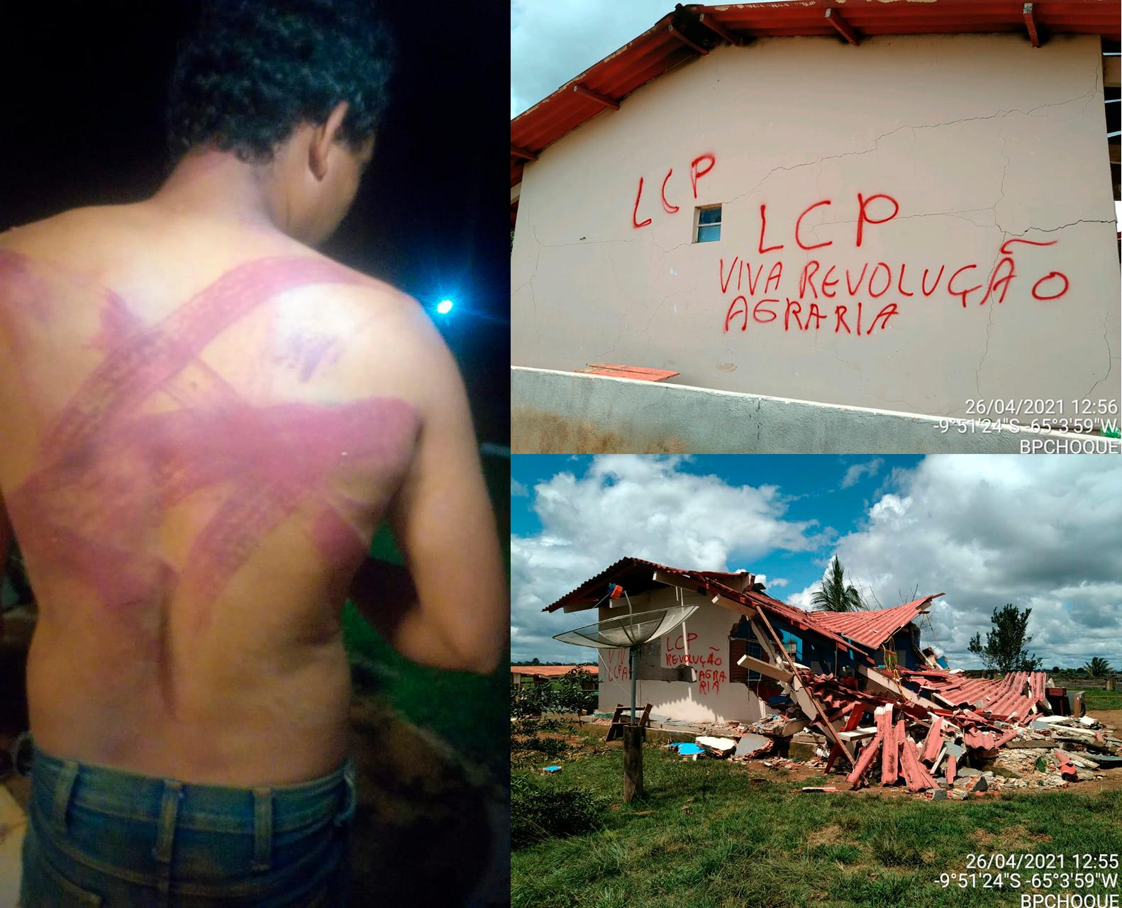 destruição fazenda tortura rondônia