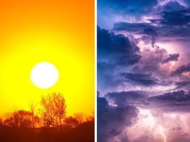 sol, chuva, previsão do tempo