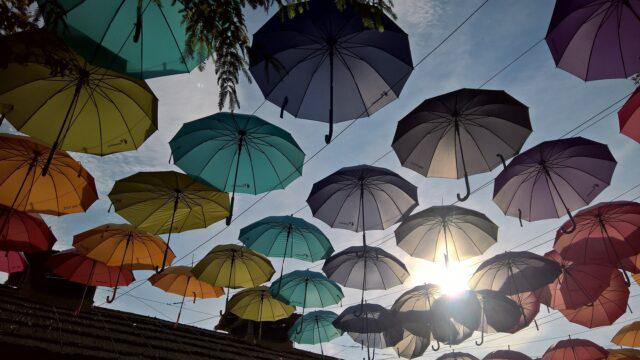 Chuva, tempo guarda-chuva